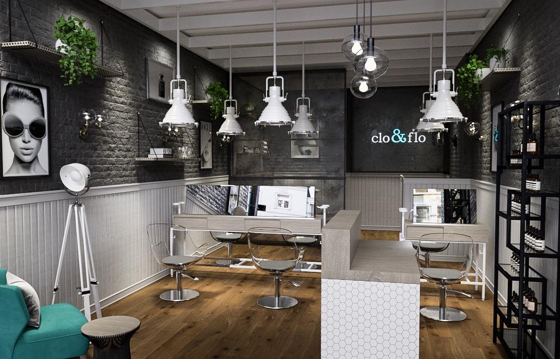 Clo & Flo Hair Salon Design