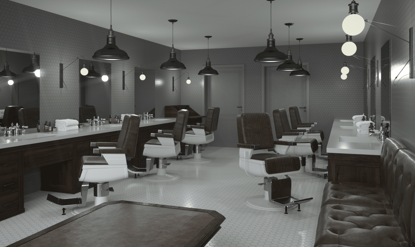 Mitchells Barber Salon Design