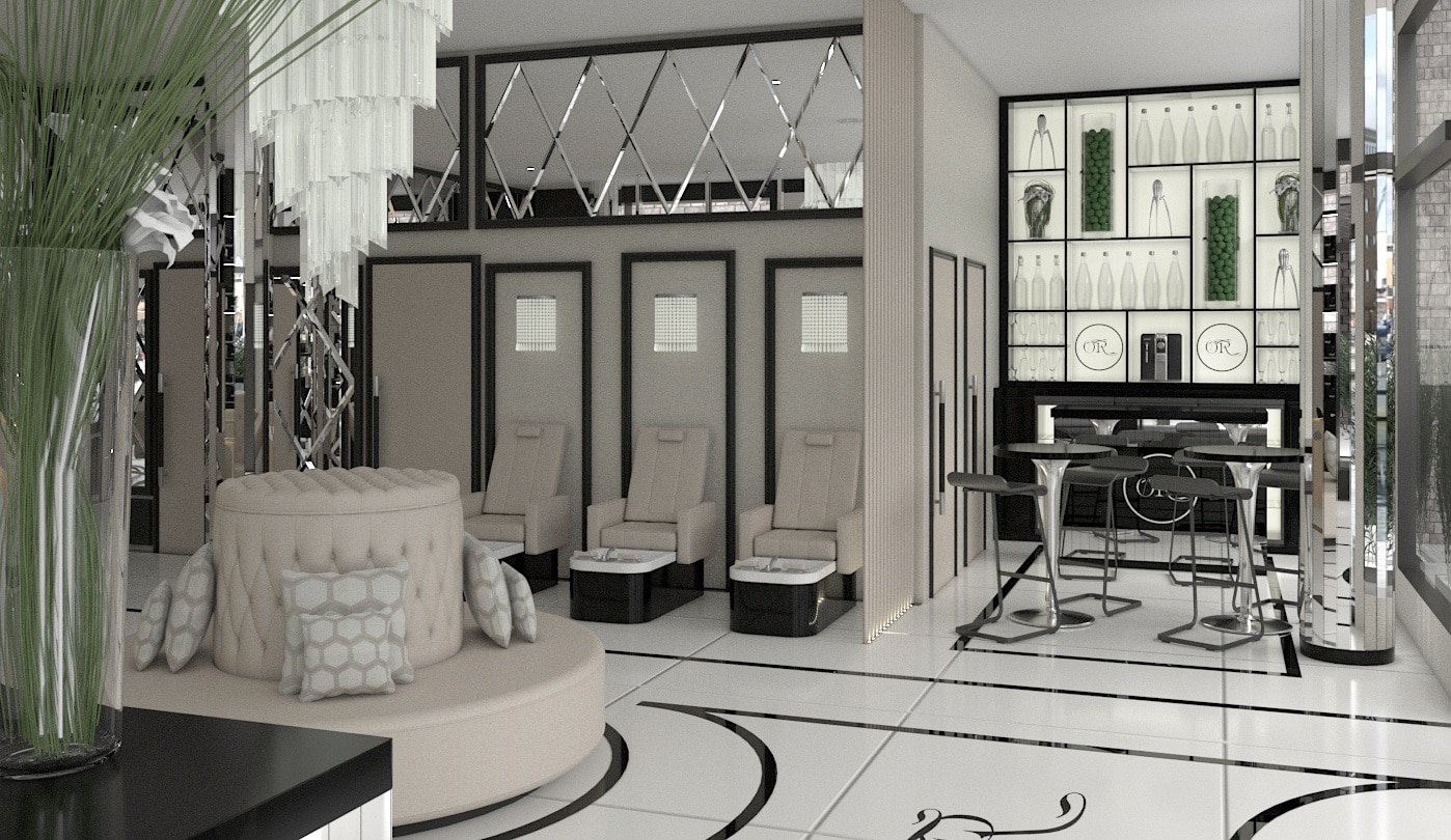 Ocean Room Beauty Salon Design