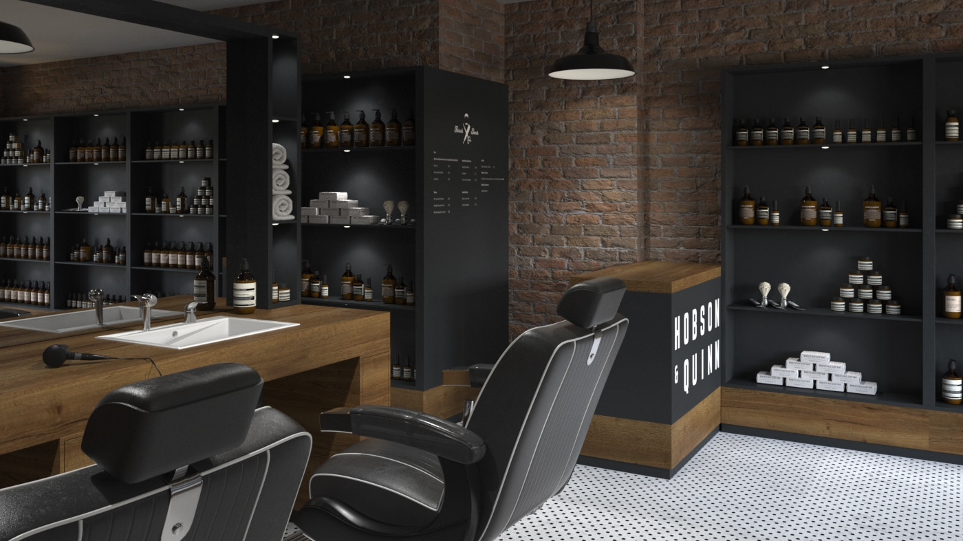 Hobson Quinn Barber Salon Design